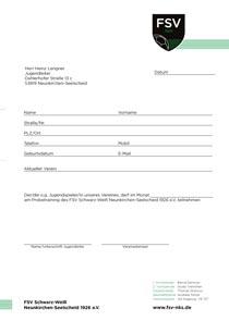 Freigabe Probetraining PDF