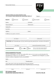 Antrag auf Erwerb der Mitgliedschaft