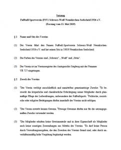 FSV Vereins-Satzung
